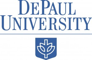 DePaul logo SECONDARY configuration (7462)